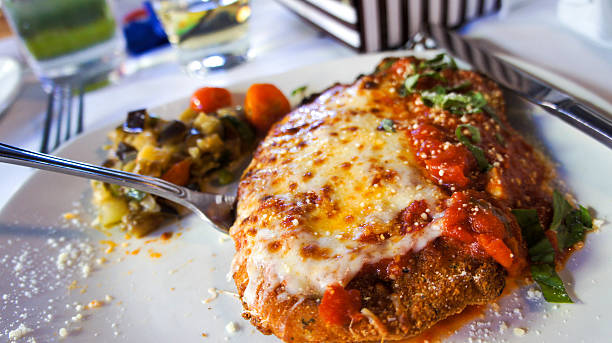 chicken parmesan - parmesan stock photos and pictures