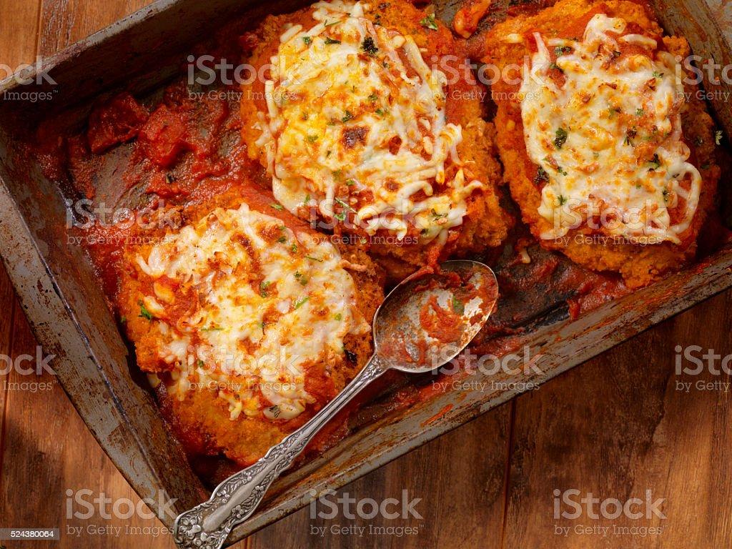 Chicken Parmesan with Spaghetti stock photo