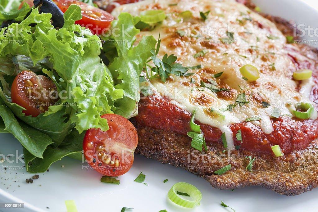 Chicken Parmigiana royalty-free stock photo