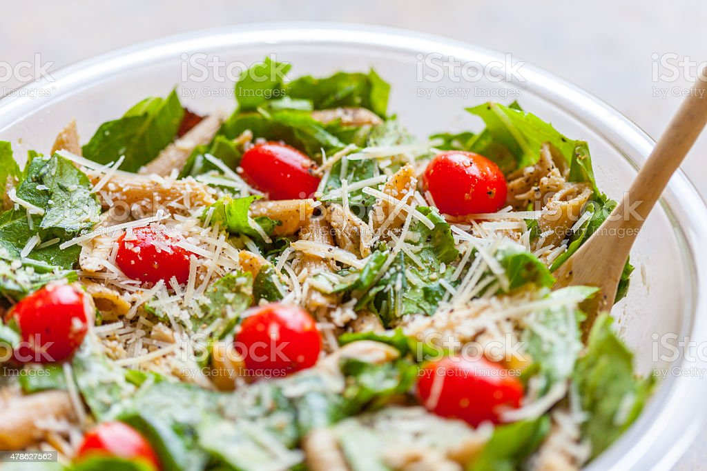 Chicken Pasta Salad stock photo