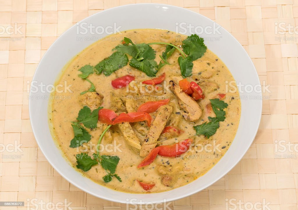 Chicken Penang curry stock photo
