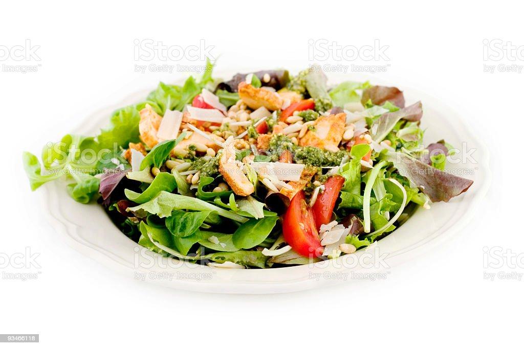 Chicken Pesto Salad stock photo