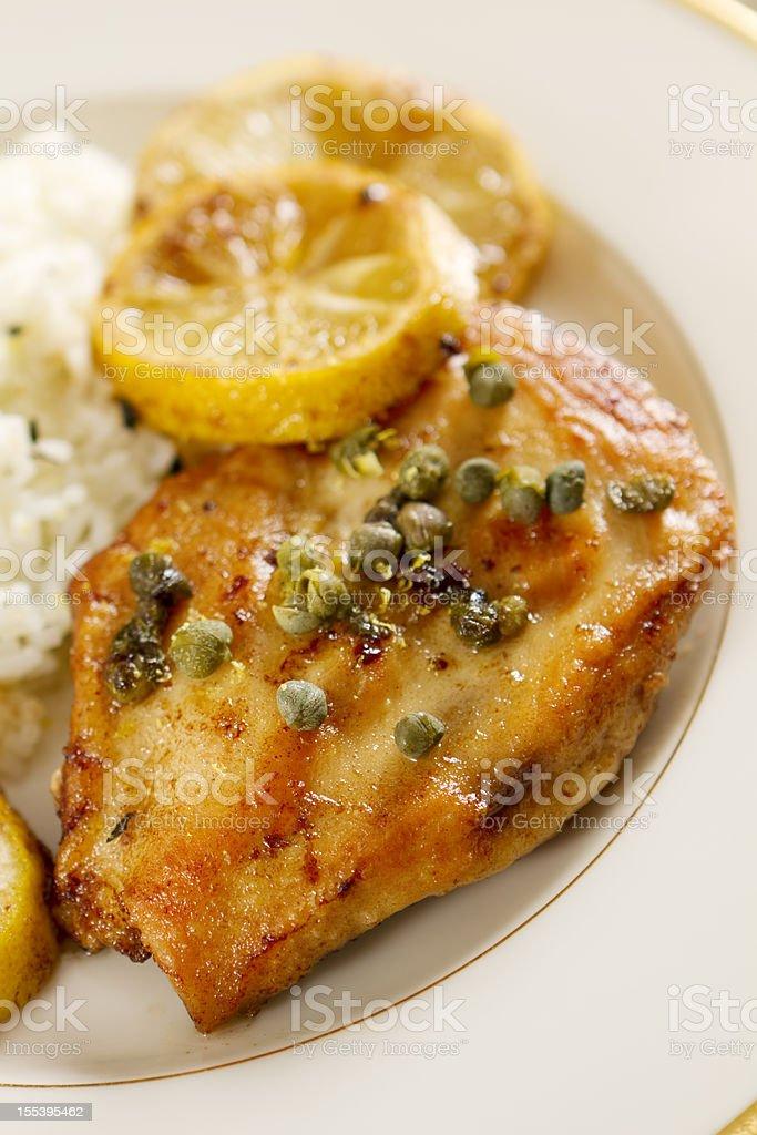 Chicken Piccata stock photo