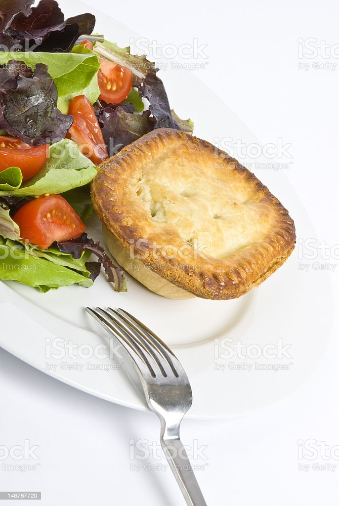 Chicken Pie and Tossed Salad royalty-free stock photo
