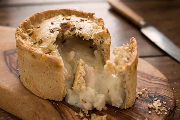 torta de frango - torta salgada - fotografias e filmes do acervo