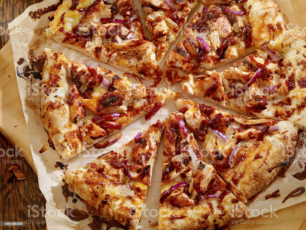 BBQ Chicken Pizza stock photo