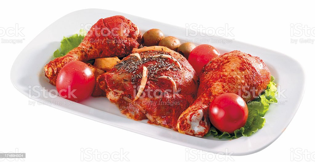 Chicken plate royalty-free stock photo