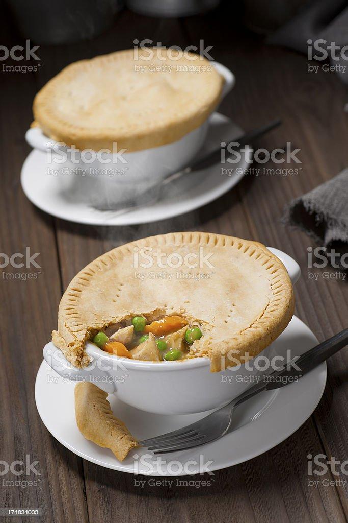 Chicken Pot Pie royalty-free stock photo