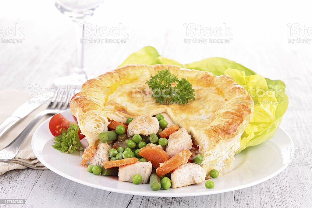 chicken pot pie royalty-free stock photo