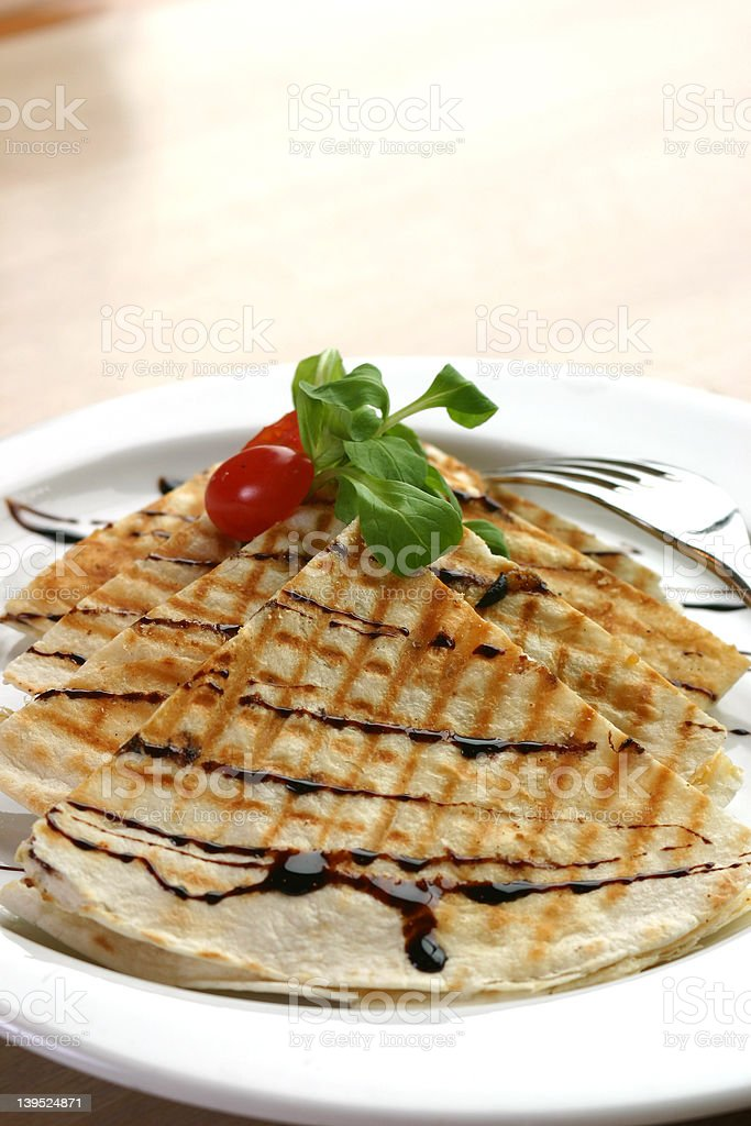 Chicken Quesadilla royalty-free stock photo