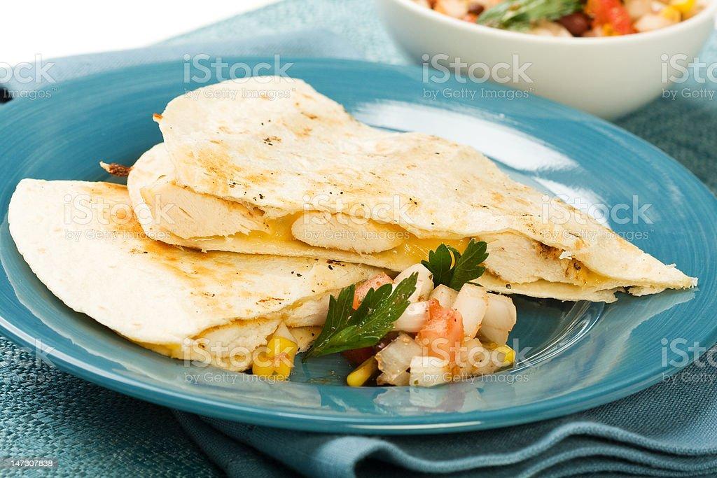 Chicken Quesadilla stock photo