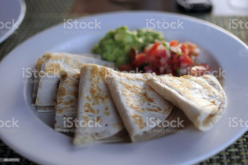 Chicken Quesadilla's, Mexico stock photo