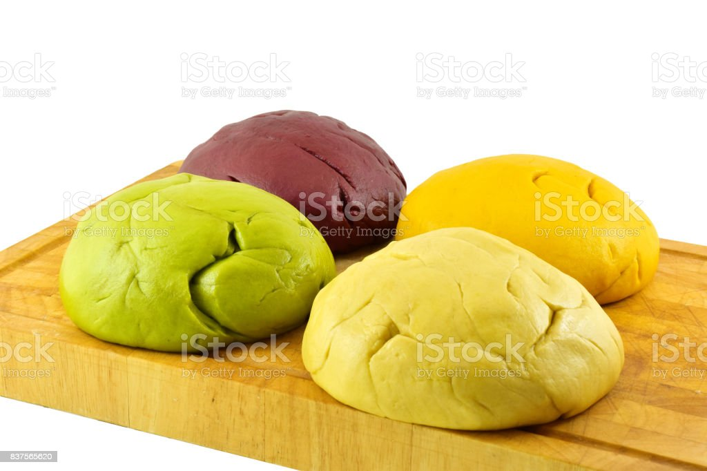 chicken rainbow curry puff stock photo