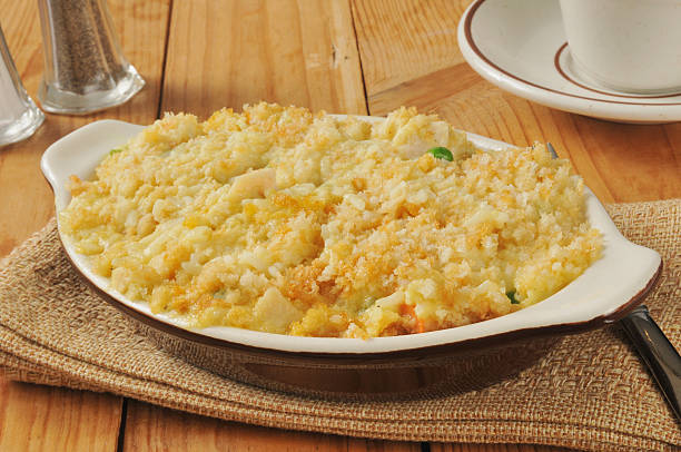 chicken rice casserole - casserole stock photos and pictures
