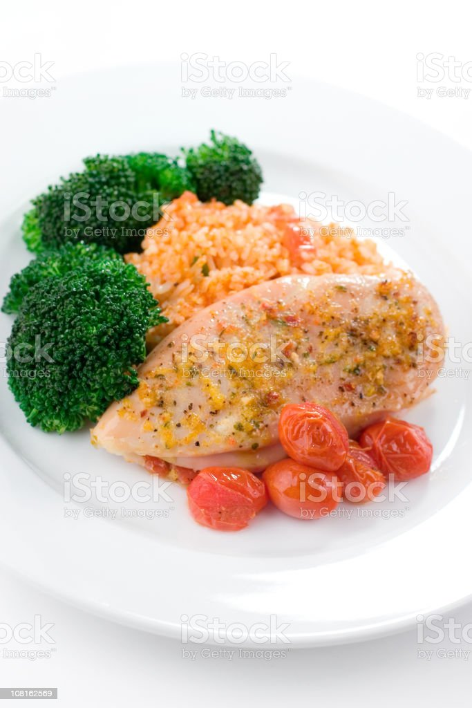 Chicken & Rice stock photo