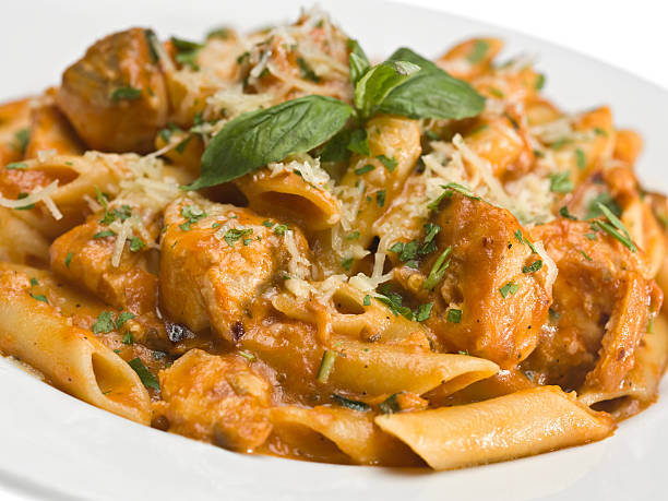 Chicken Rigatoni al Vodka  rigatoni stock pictures, royalty-free photos & images
