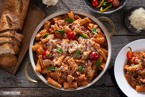 Rigatoni with Chicken and Marinara Sauce (Chicken Riggies)