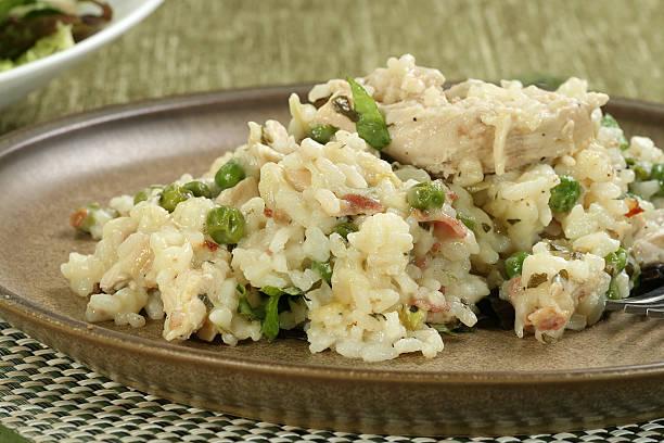 chicken risotto stock photo