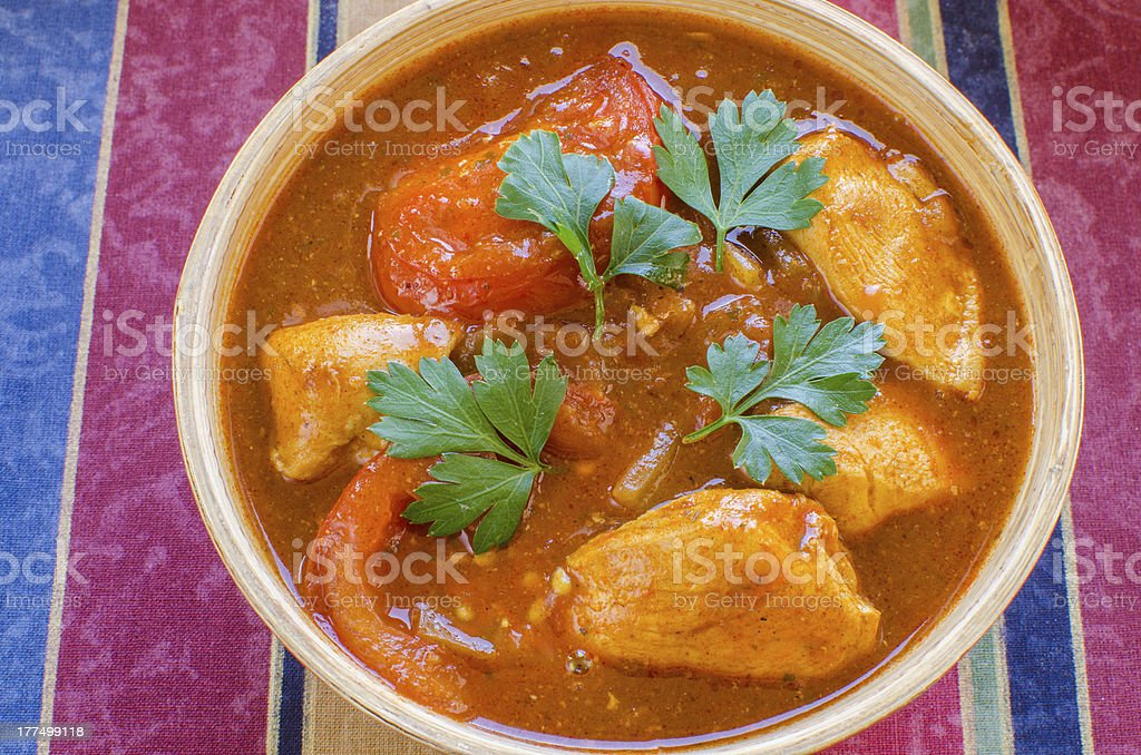 Chicken Rogan Josh stock photo