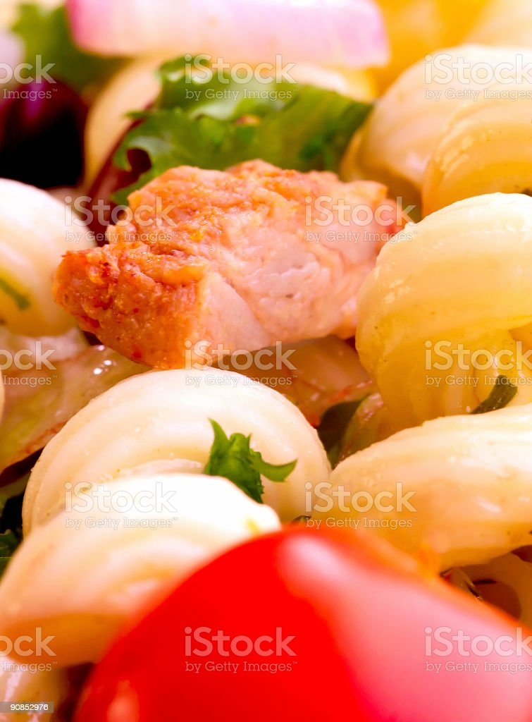 Chicken salad - close up stock photo
