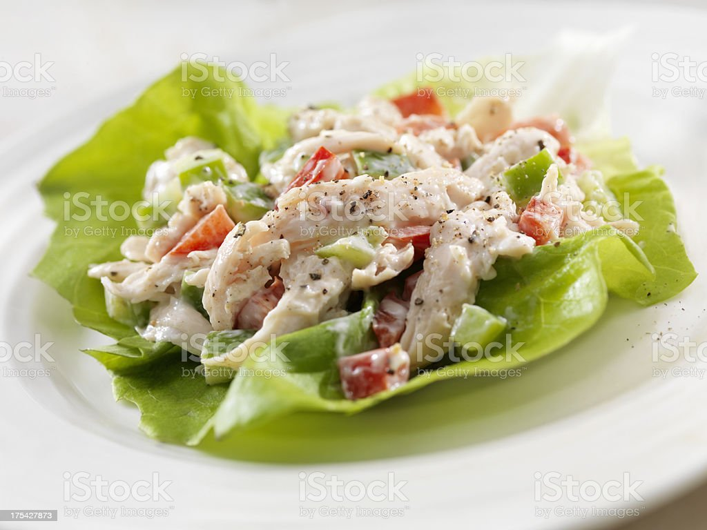 Chicken Salad Lettuce Wrap stock photo