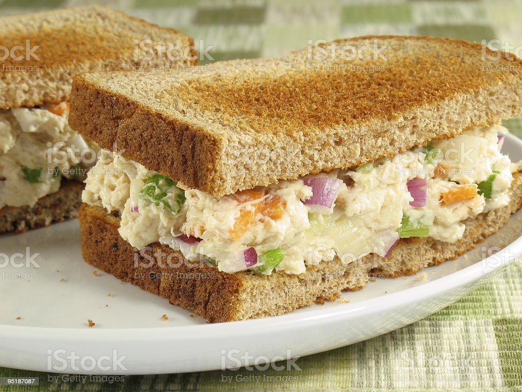 Chicken Salad on Toast stock photo