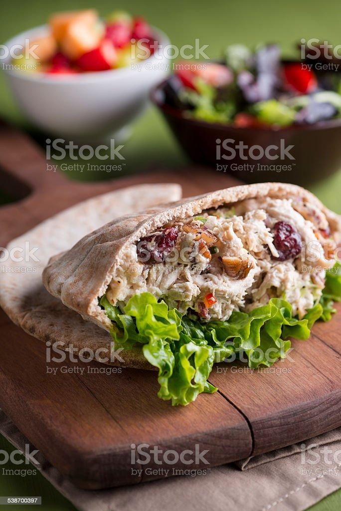 Chicken Salad Pita stock photo