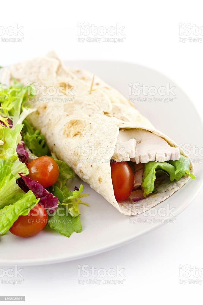 Chicken Salad Sandwich Wrap royalty-free stock photo