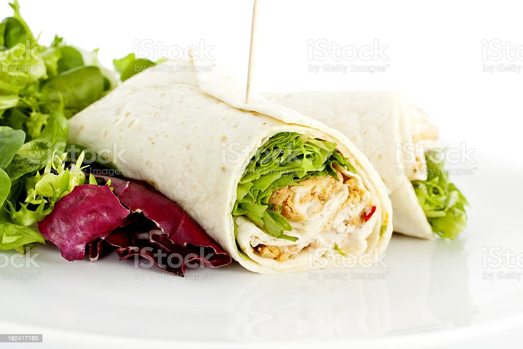 Chicken Salad Sandwich Wrap royalty-free stock photo