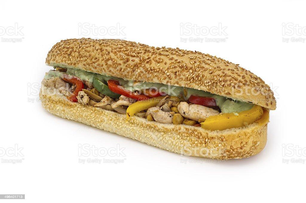 Chicken Sandwich Isolated stock photo