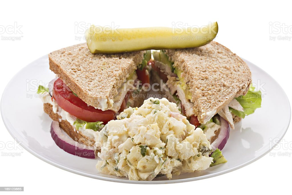 Chicken Sandwich Meal royalty-free stock photo