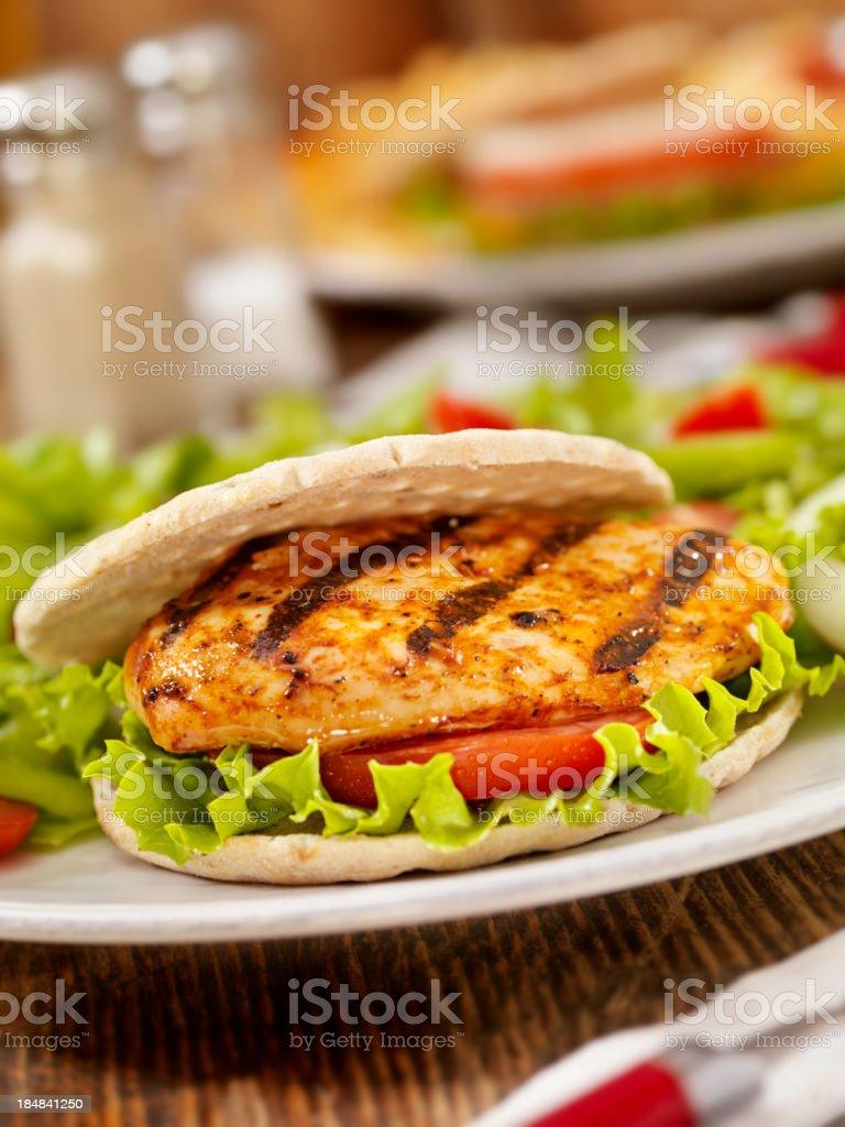 BBQ Chicken Sandwich stock photo