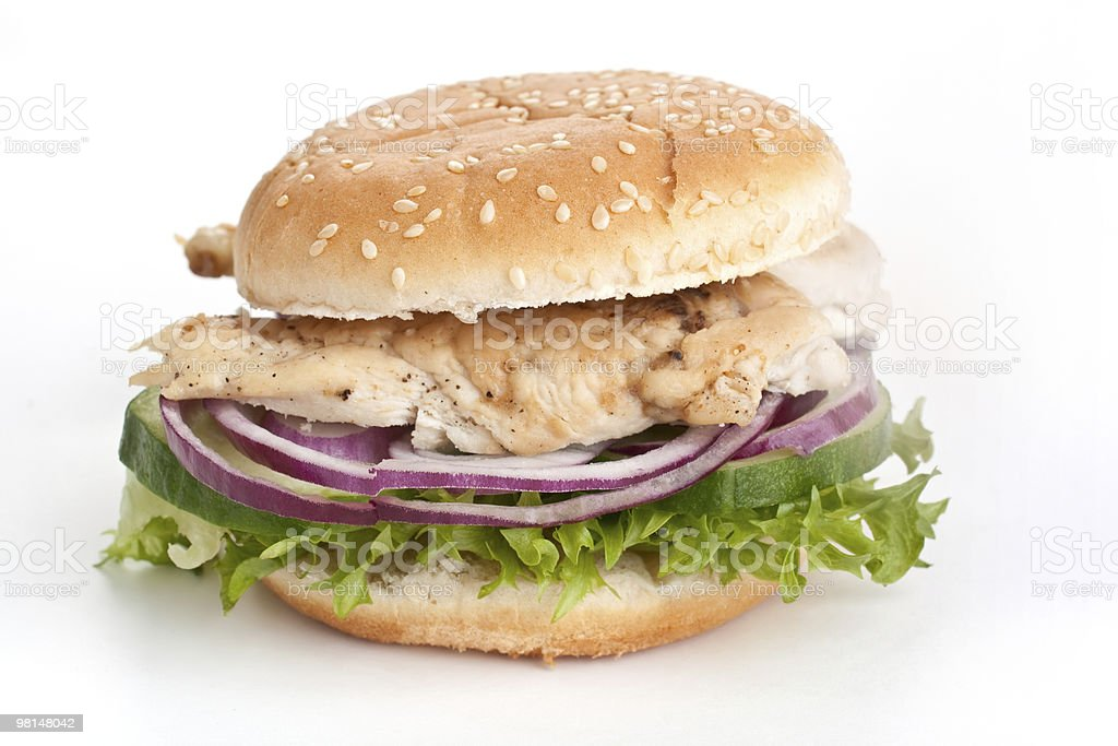 chicken ( turkey ) sandwich royalty-free stock photo