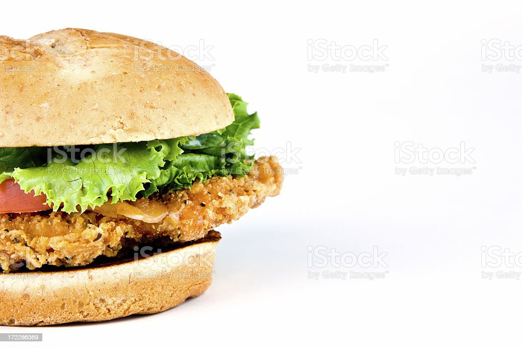Chicken Sandwich to the left stock photo
