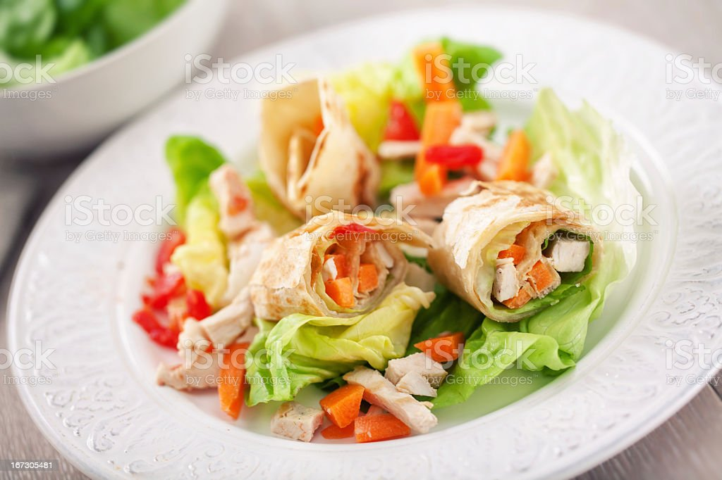 Chicken Sandwich Wrap royalty-free stock photo
