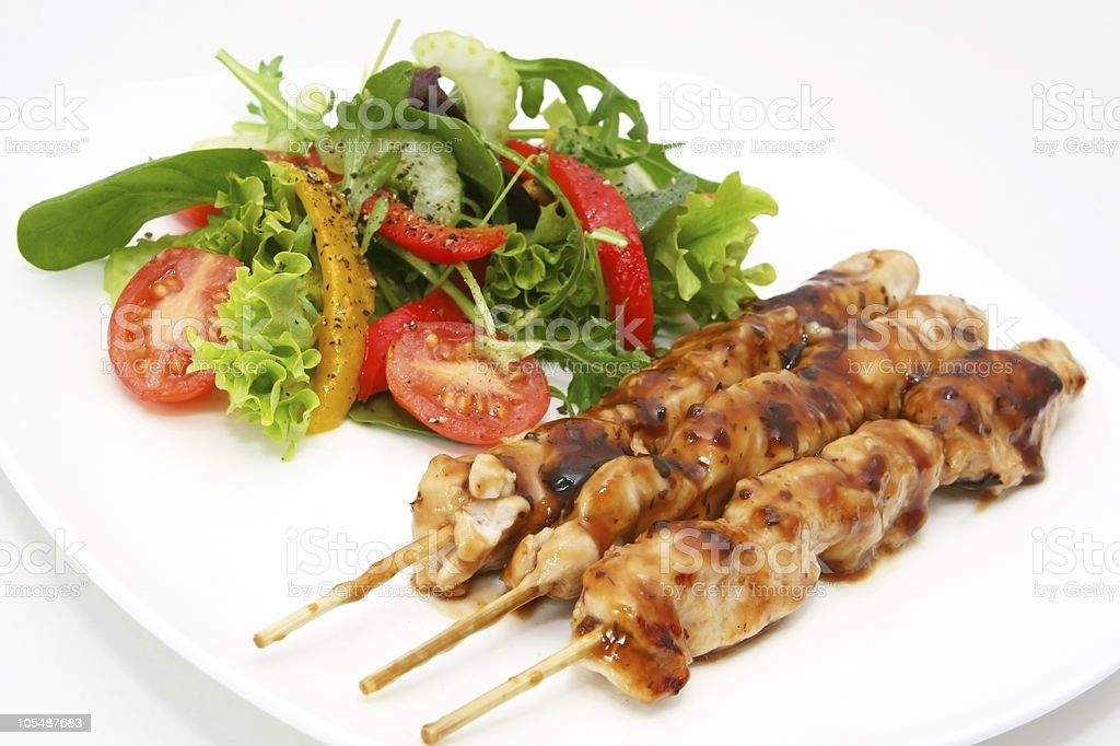 Chicken Satay royalty-free stock photo