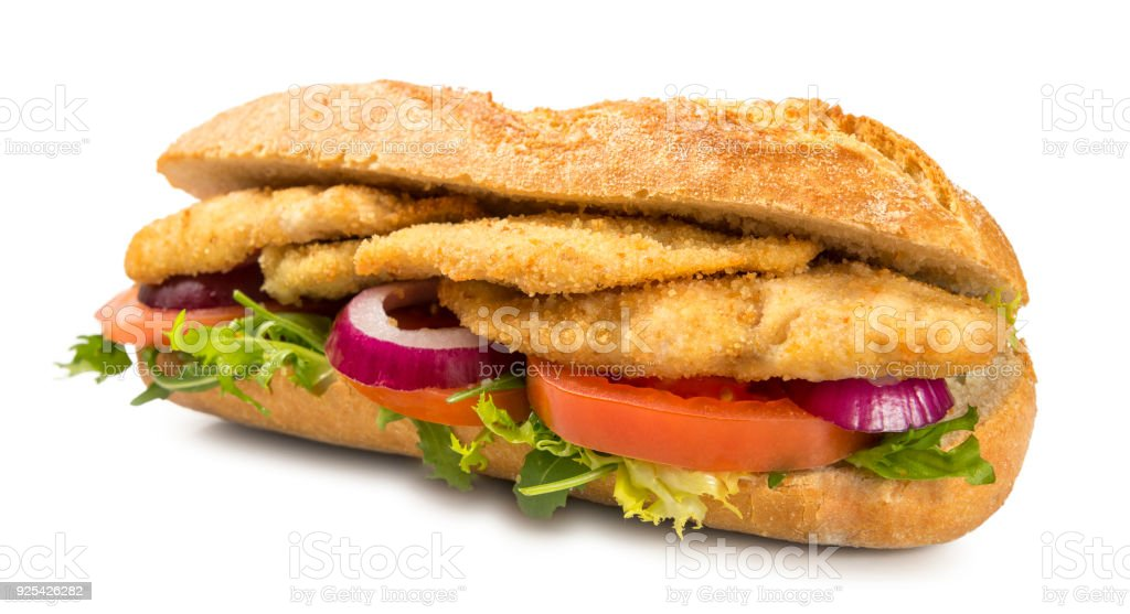 Chicken Schnitzel Sandwich Stock Photo Download Image Now Istock