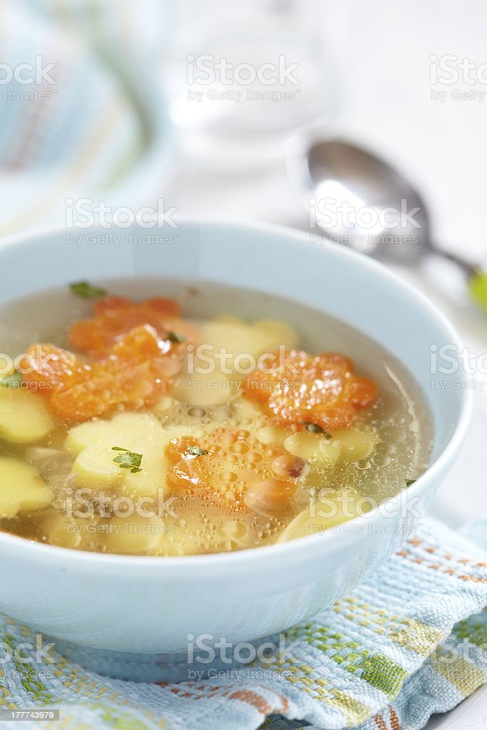 Chicken soup for kids royalty-free stock photo