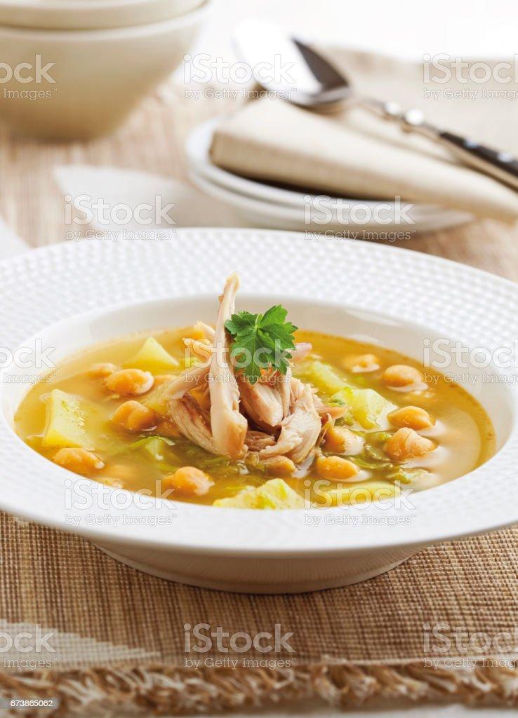 Tavuk patates ve Nohut Çorbası royalty-free stock photo