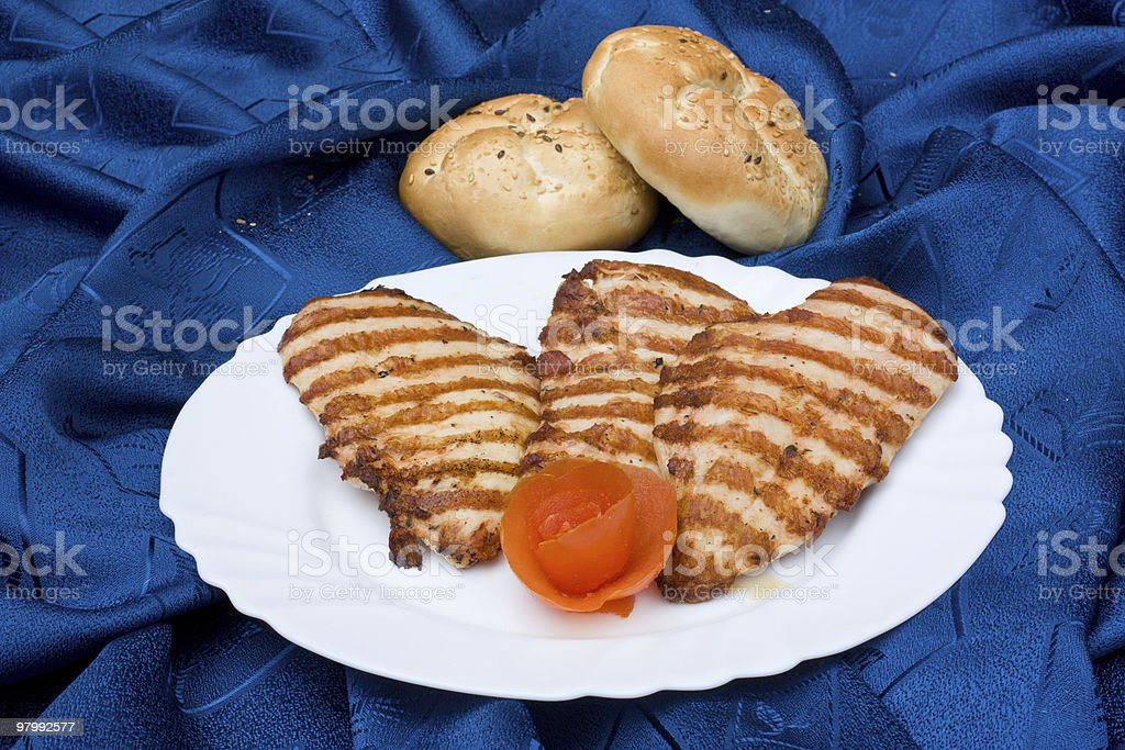 Chicken steak royalty-free stock photo
