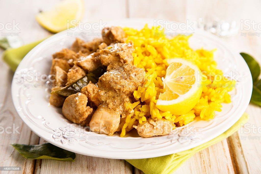 Chicken stew stock photo