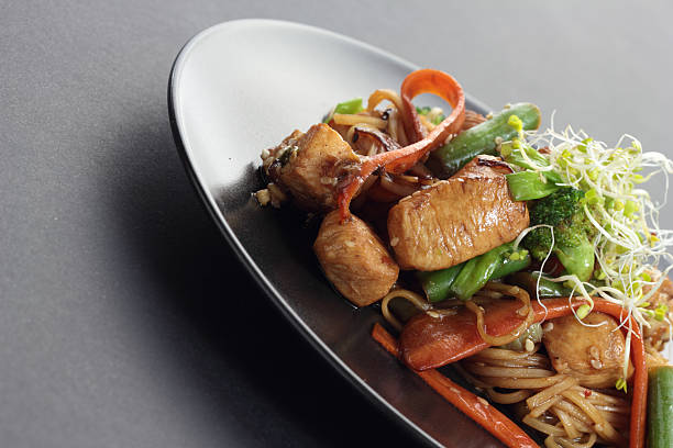 Chicken  stir fry. stock photo