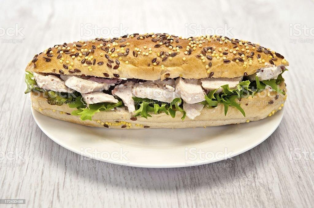 Chicken Sub Sandwich royalty-free stock photo