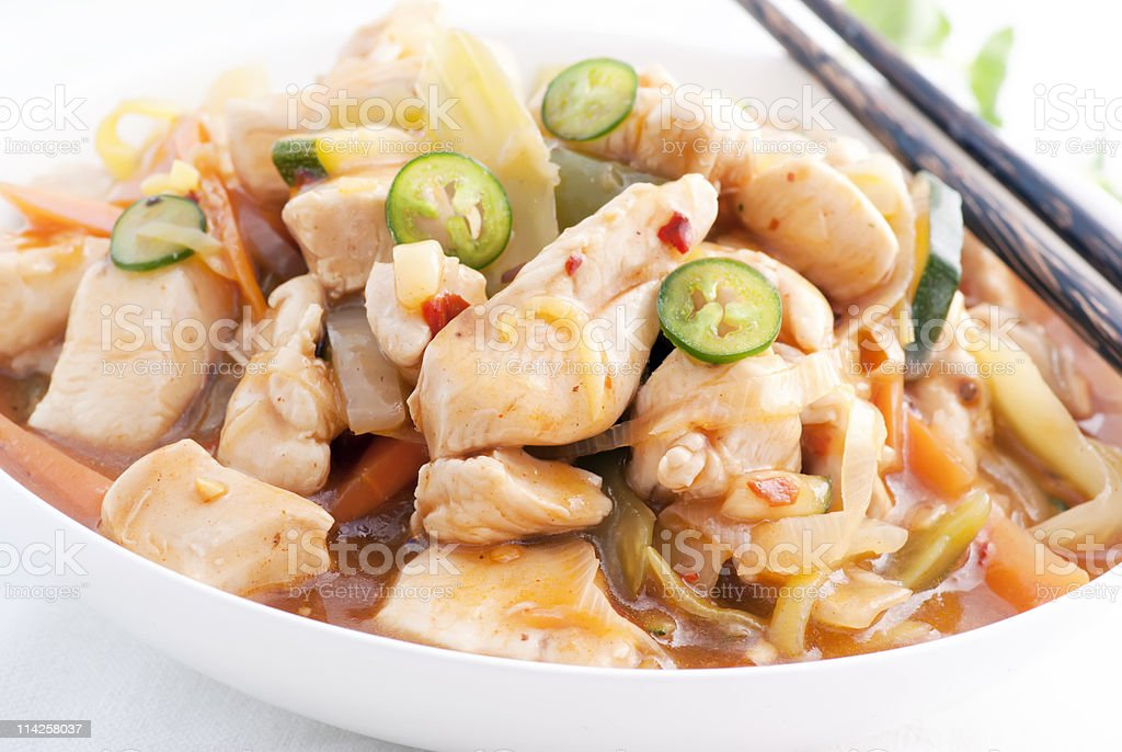 Chicken Sweet Sour royalty-free stock photo