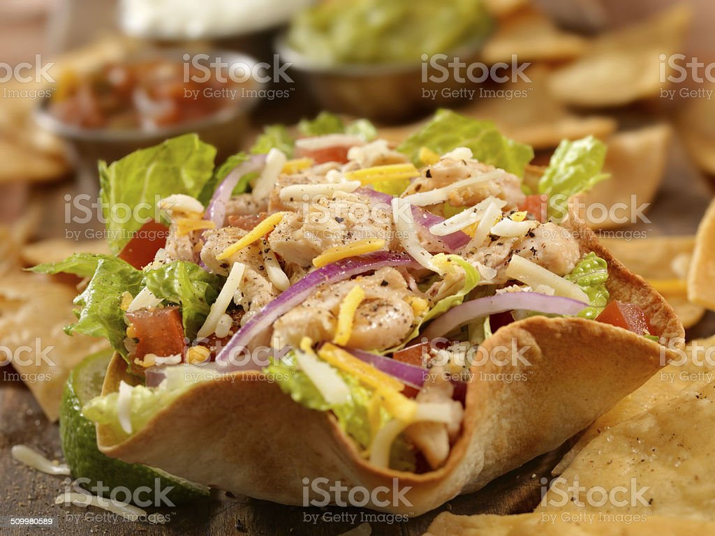 Chicken Taco Salad stock photo