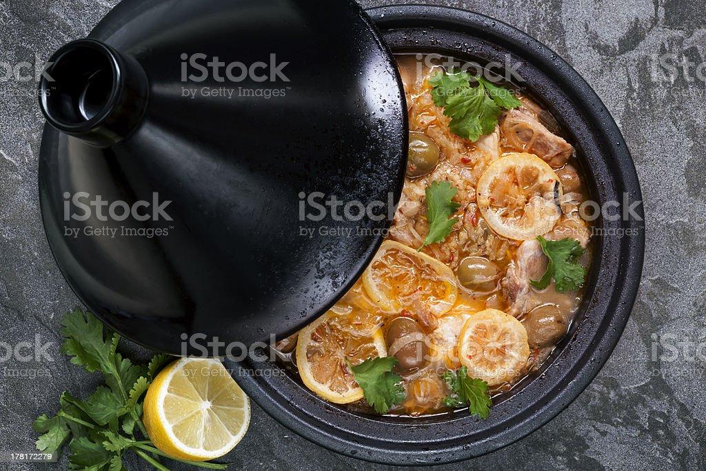 Chicken Tagine stock photo