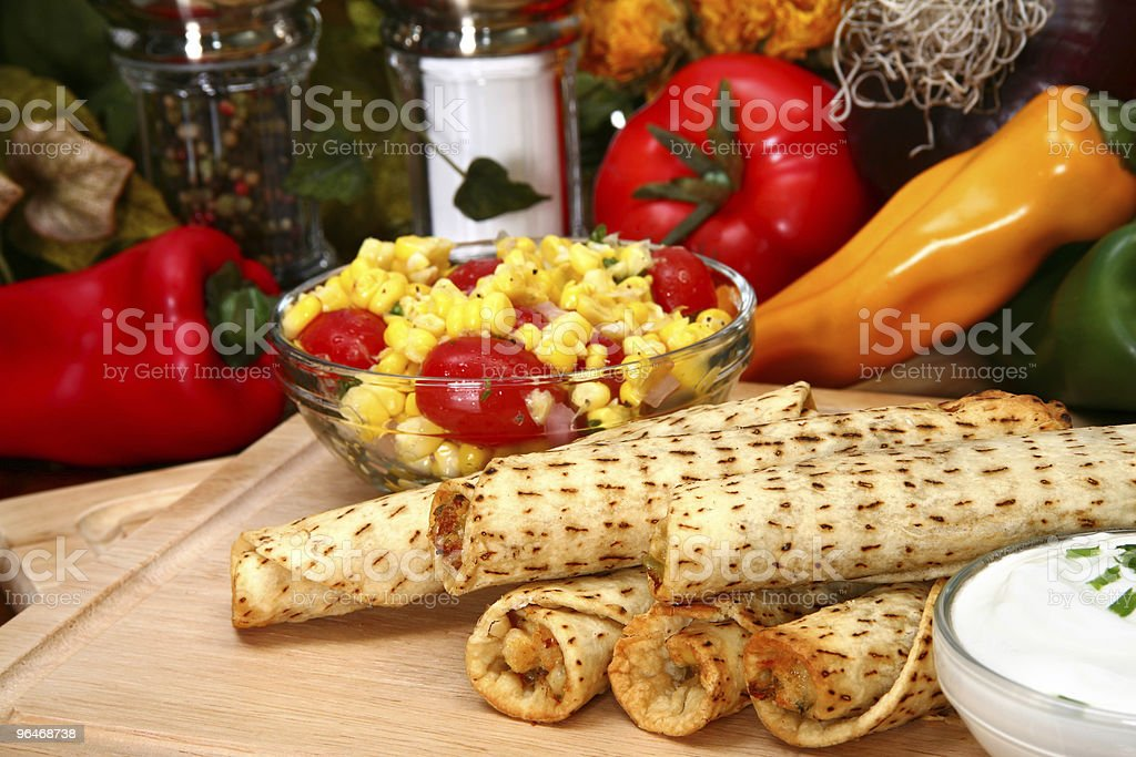 Chicken Taquitos royalty-free stock photo