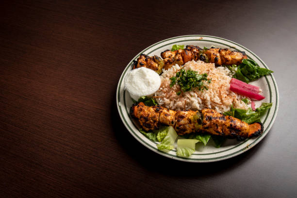 tavuk tayı Orta Doğu Restoran gıda stok fotoğrafı