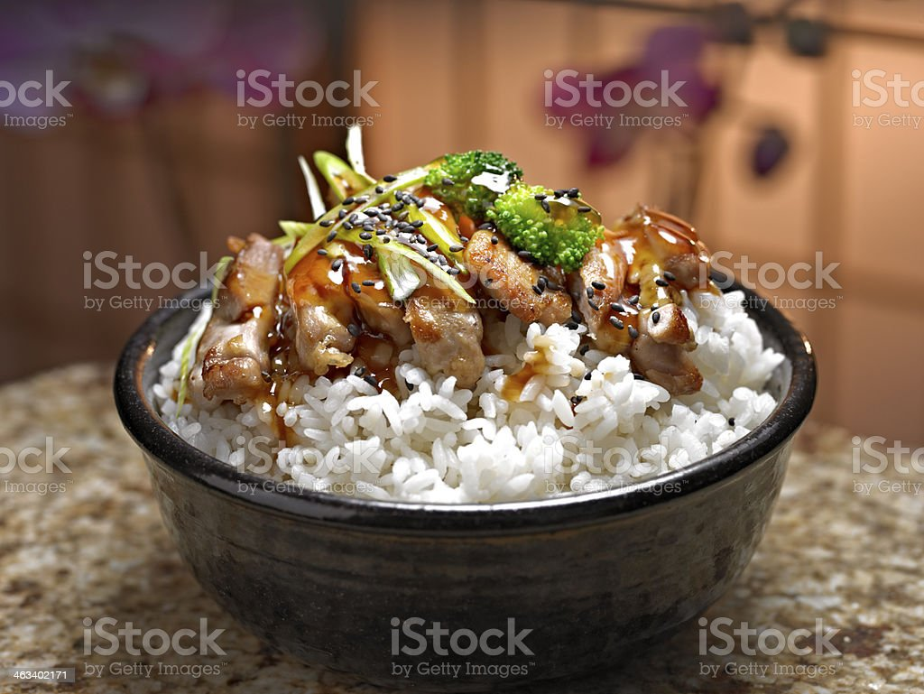 Chicken Teritaki stock photo