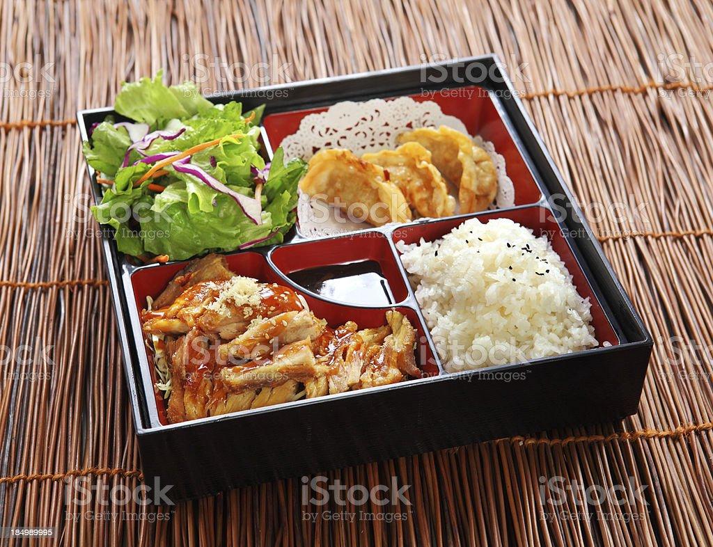 Chicken Teriyaki Bento stock photo
